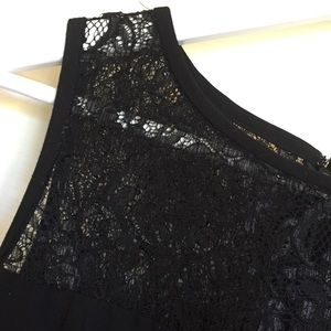MARC NEW YORK by Andrew Marc 12 black lace dress